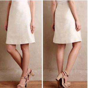 Anthropologie Paper Crown Shimmered Cressida Skirt